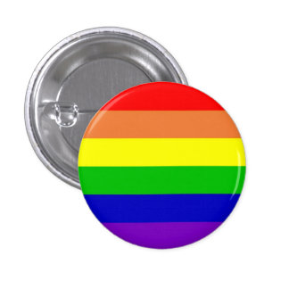 Rainbow flag 3 cm round badge