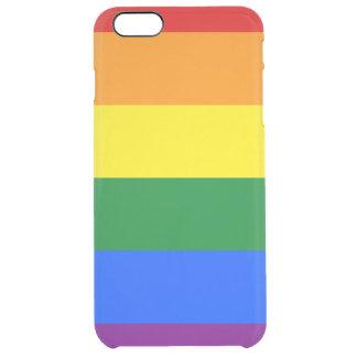 Rainbow Flag Clear iPhone 6 Plus Case