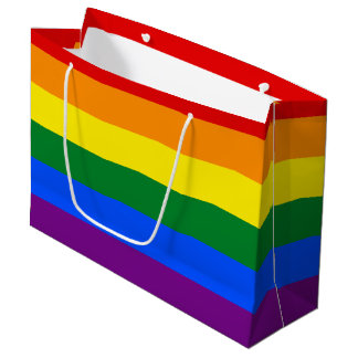 Rainbow Flag Large Gift Bag
