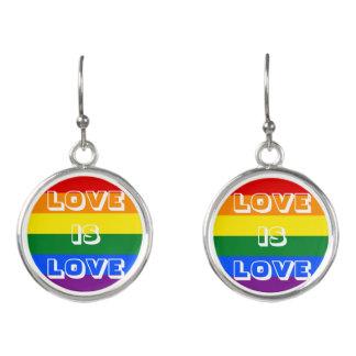 Rainbow Flag LGBT Gay Pride Love is Love Earrings