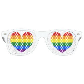 Rainbow flag love heart symbol party shades