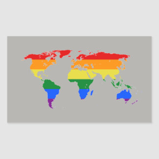 Rainbow Flag Map Stickers