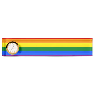 Rainbow Flag Nameplate