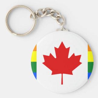 Rainbow Flag of Canada Key Ring