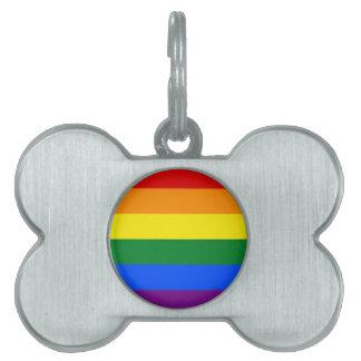 Rainbow Flag Pet Tag