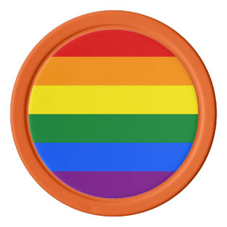 Rainbow Flag Poker Chips
