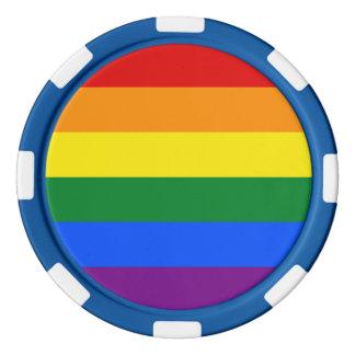 Rainbow Flag Poker Chips