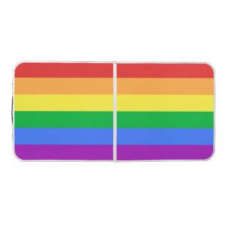 Rainbow Flag Pong Table