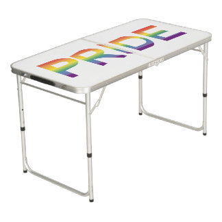 Rainbow Flag Pride Beer Pong Table