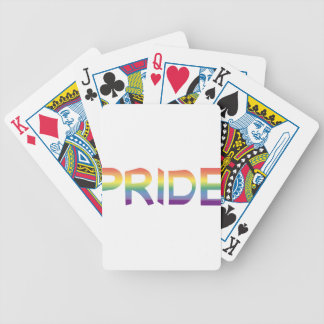 Rainbow Flag Pride Bicycle Playing Cards