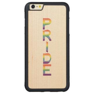 Rainbow Flag Pride Carved Maple iPhone 6 Plus Bumper Case