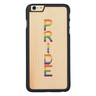 Rainbow Flag Pride Carved Maple iPhone 6 Plus Case