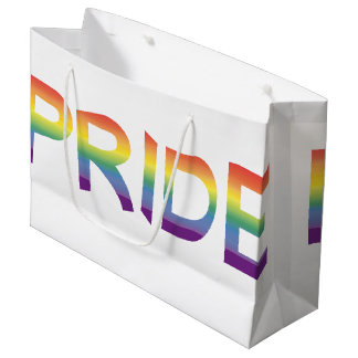 Rainbow Flag Pride Large Gift Bag