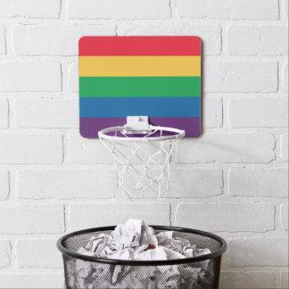 Rainbow Flag Pride Mini Basketball Hoop
