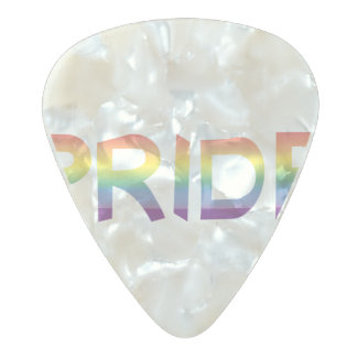 Rainbow Flag Pride Pearl Celluloid Guitar Pick