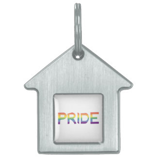 Rainbow Flag Pride Pet ID Tag