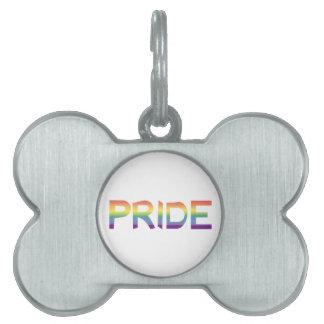Rainbow Flag Pride Pet Name Tag