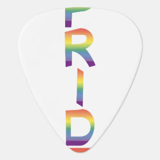 Rainbow Flag Pride Plectrum