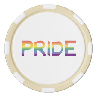 Rainbow Flag Pride Poker Chips