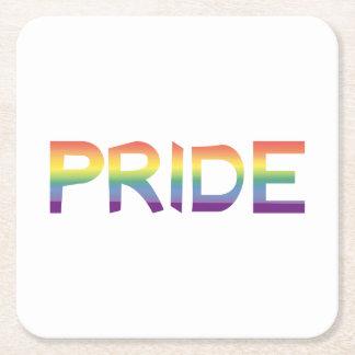 Rainbow Flag Pride Square Paper Coaster