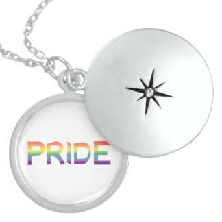 Rainbow Flag Pride Sterling Silver Necklace