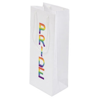 Rainbow Flag Pride Wine Gift Bag
