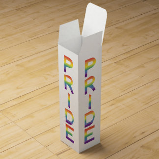 Rainbow Flag Pride Wine Gift Box