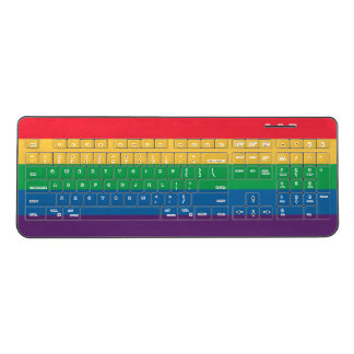 Rainbow Flag Pride Wireless Keyboard