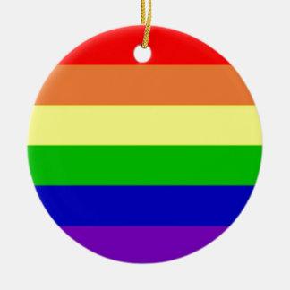 Rainbow Flag Round Ceramic Decoration