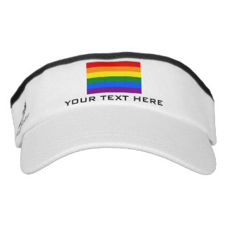 Rainbow flag sports sun visor cap hat