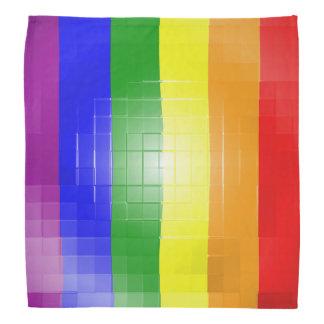 RAINBOW FLAG SQUARE TILE BANDANA