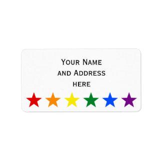 RAINBOW FLAG STARS + your ideas Address Label