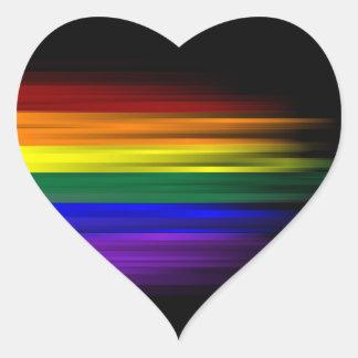 Rainbow Flag Sticker Sheet (Heart)