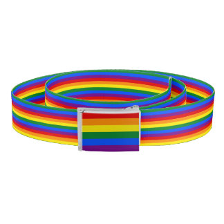 RAINBOW FLAG stripes + your ideas Belt