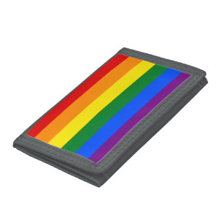 Rainbow Flag Trifold Wallets