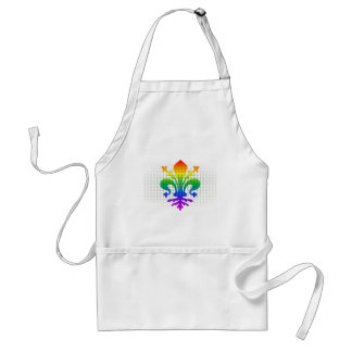 Rainbow Fleur-de-lis Apron