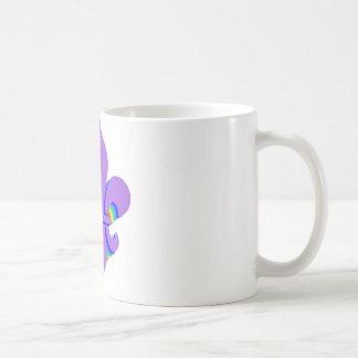 Rainbow Fleur De Lis Coffee Mugs
