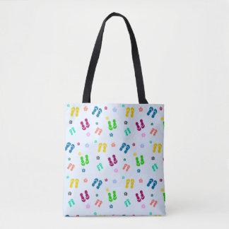 rainbow flips tote bag