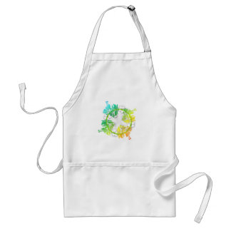Rainbow Floral Aprons
