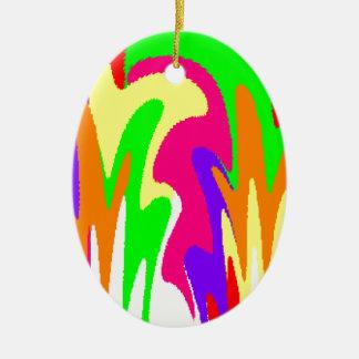 Rainbow Floral Ceramic Oval Decoration