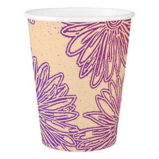 Rainbow floral graphic paper cup