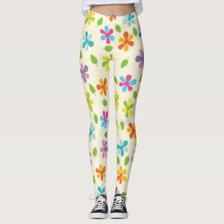 Rainbow Floral Leggings