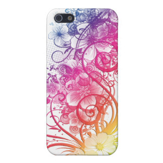 Rainbow Floral Pern ® Fitted™ Hard Shell C iPhone 5 Cover