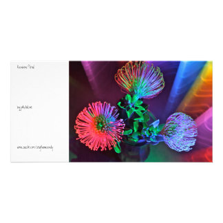 Rainbow Floral Personalised Photo Card