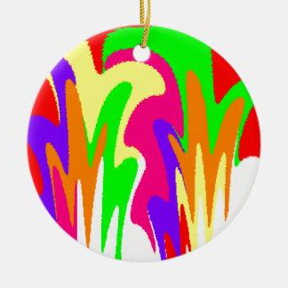 Rainbow Floral Round Ceramic Decoration