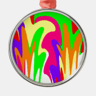 Rainbow Floral Silver-Colored Round Decoration