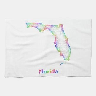 Rainbow Florida map Towel