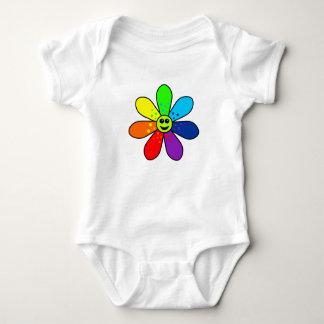 Rainbow Flower Baby Bodysuit