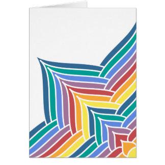 Rainbow Flower Burst Card