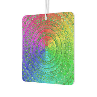 Rainbow Flower Mandala Car Air Freshener